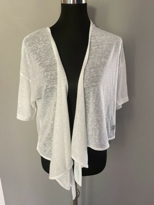 Mode express No1 Bolero lavorato a maglia bianco Tessuto misto