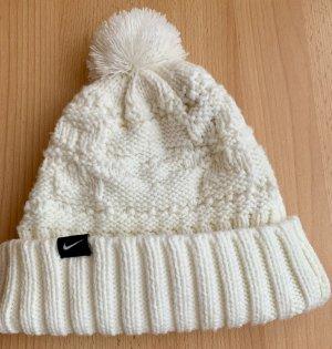 Nike Chapeau en tricot blanc