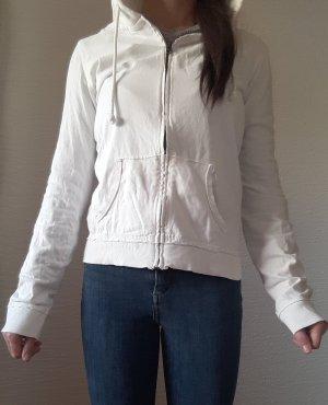 weiße Sweatjacke