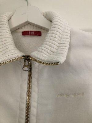 Weiße Sweatshirt Jacke von Esprit in Gr. S