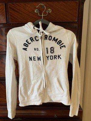 Abercrombie & Fitch Sweat Jacket white-blue