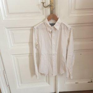 Weiße, taillierte, strechtige Bluse von Ralph Lauren