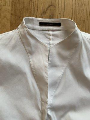 Weiße taillierte Windsor-Bluse
