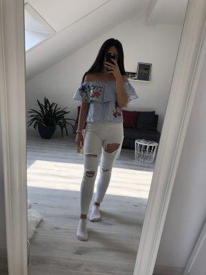 Weiße Topshop Jamie Jeans