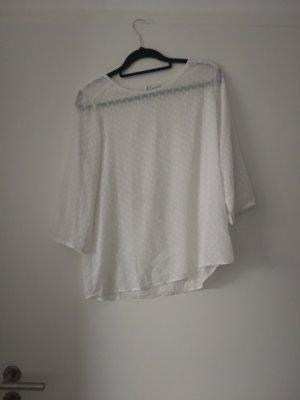 Weiße transparente Bluse von Jacqueline de Yong, Sommer, Boho, Blogger
