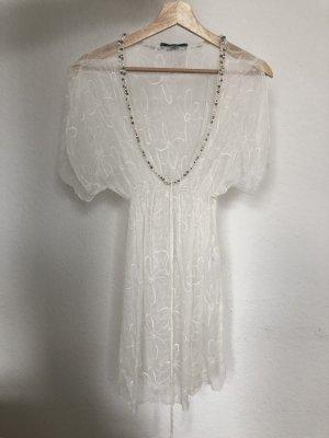 Aquamarine Ibiza Sukienka plażowa biały-w kolorze białej wełny