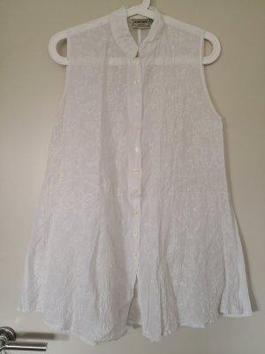 Weiße Tunika-Bluse mit Stickereien