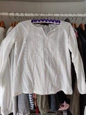 Weiße Tunika Bluse stickbluse Hallhuber Marrakesch 34