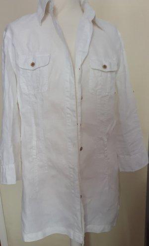 Weiße Tunikabluse Gr.42, leinen
