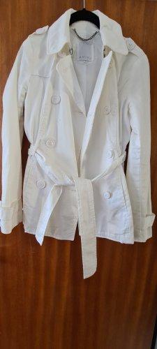 Amisu Kurtka przejściowa biały Tkanina z mieszanych włókien