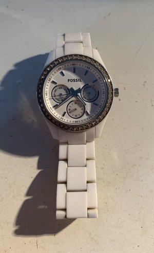 Weiße Uhr von Fossil