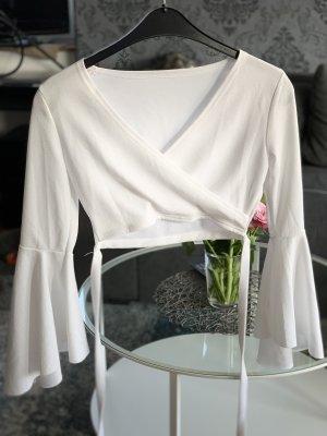 Kopertowa bluzka biały Bawełna