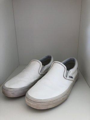 Weiße Vans Slip-ons