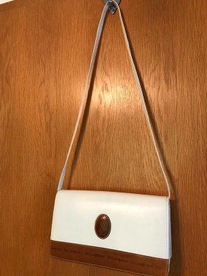 Weiße Vintage Leder Umhängetasche von Yves Saint Laurent