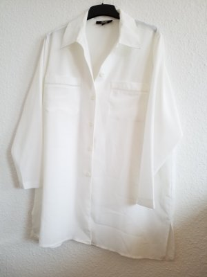 weiße Vintage Oversized Hemdbluse