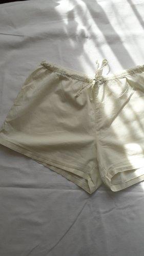 weiße Vintage Shorts Baumwolle