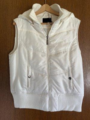 Fishbone Hooded Vest white-natural white