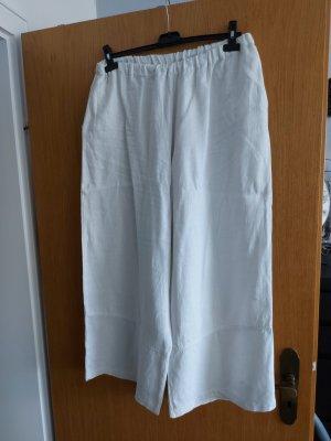 opium Pantalon en lin blanc