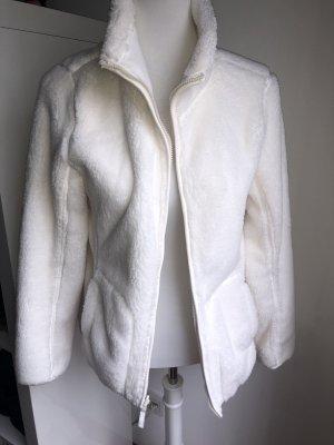 Weiße Wendejacke Fleece Größe S