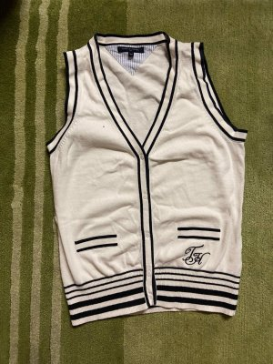 Tommy Hilfiger Fleece vest wit-blauw