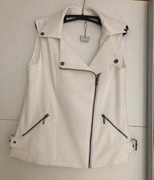 Reversible Vest white-silver-colored