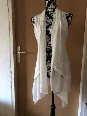 Dwustronna kamizelka biały-w kolorze białej wełny