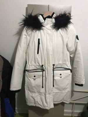 Weiße Winter jacke