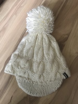 Barts Knitted Hat white-cream