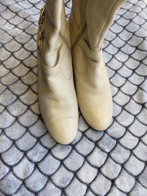 Low boot beige clair cuir