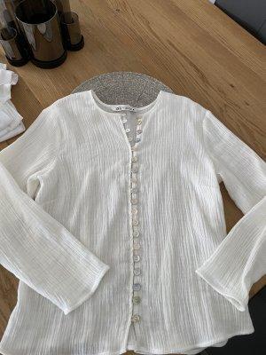 Weiße Zara Baumwollbluse