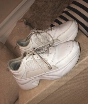 Zara Heel Sneakers white leather