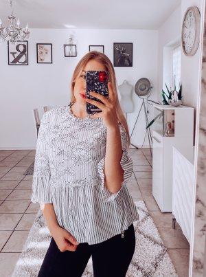 weiße Zara Spitzenbluse 34/XS
