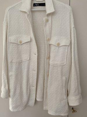 Zara Shirt Jacket white