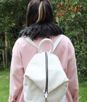 Asos Rolltop Backpack white