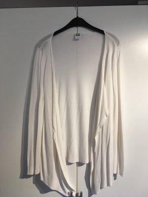 Weißer Basic Cardigan
