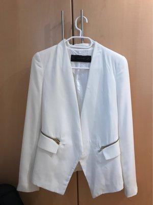 Zara Basic Veste chemisier blanc-blanc cassé