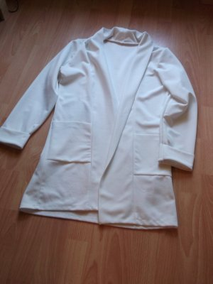 Long Blazer silver-colored polyester