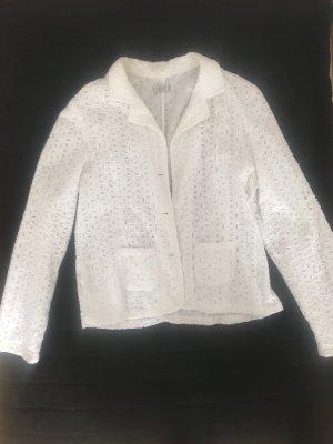 Brigitte von Boch Blazer corto bianco sporco-bianco Cotone