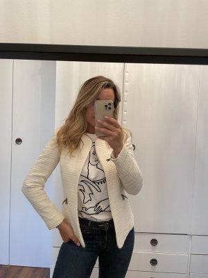 Zara Tweed Blazer natural white