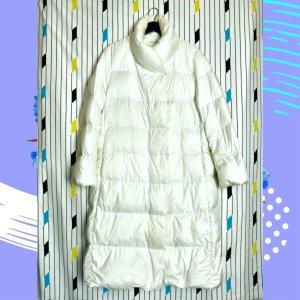 Uniqlo Gewatteerde jas wit