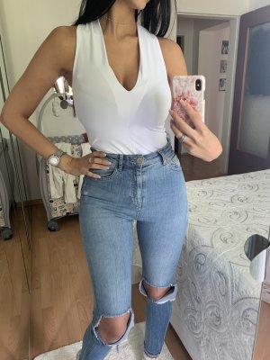Weißer Body von Zara