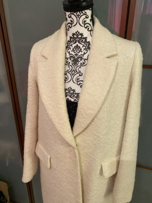Zara Wool Coat cream wool