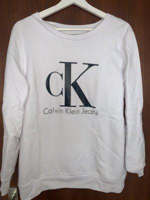 Weißer Calkin Klein Jeans Rundpullover