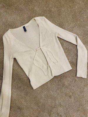 Weißer cardigan zum schnüren