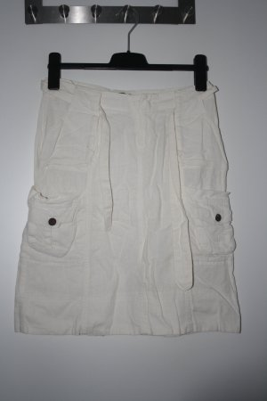 Vero Moda Cargo Skirt white cotton