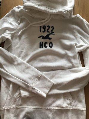 Weißer cremefarbener Pullover hoodie hollister M S 36 38