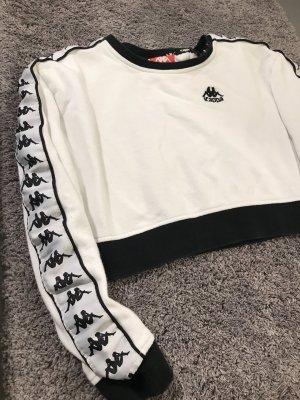 Weißer Cropped Crewneck Pullover von Kappa