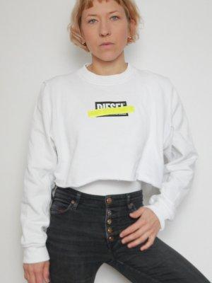 weißer Cropped Pullover / Sweater von Diesel in Gr. M