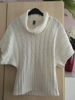 Madonna Sweter bez rękawów z cienkiej dzianiny biały Poliakryl
