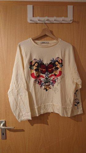 weißer Desigual Pullover